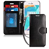 FYY Case for iPhone 7 / iPhone 8, [Kickstand Feature] Luxury PU Leather Wallet Case Flip Folio Cover with [Card Slots] and [Note Pockets] for Apple iPhone 7 2016 /iPhone 8 2017 (4.7') Black