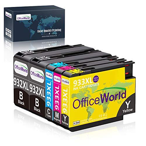 OfficeWorld 932 933 Compatibile Cartucce Sostituzione per HP 932XL 933XL Alta capacit Compatibile...