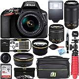 Nikon D3500 24.2MP DSLR Camera with AF-P 18-55mm VR Lens & 70-300mm Dual Zoom Lens Kit 1588...