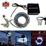 LED Basketball Hoop Lights -LED Basketball Rim Lights-Basketball Rim Solar Light Swish Perfect for Playing at Night Outdoors - Ideal for Kids Adults Training Games -Sensing Mode by Yoruii