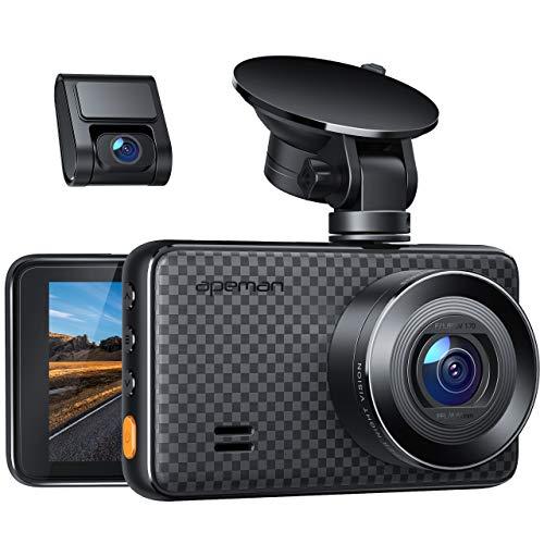 APEMAN 1440P&1080P Dashcam vorne und hinten, Maximal 1520P, 128 GB Unterstützung, 170° Dashcam Autokamera mit 3 Zoll IPS-Bildschirm, Nachtsicht mit IR-Sensor, Bewegungserkennung, Einpark-Monitor