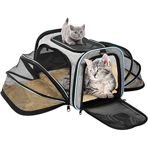 OMORC Transportin Gato Perro, Bolsa de Transporte Transpirable para...