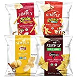 Simply Brand Organic Doritos Tortilla Chips, Cheetos Puffs, 36 Count