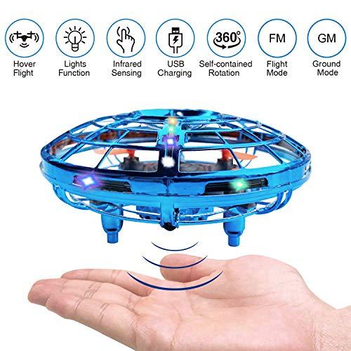 BRAND SET Versione Aggiornata del UFO Mini Drone Giocattoli Volanti con Luci a LED Induzione a...