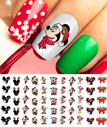 Mickey Mouse & Minne Mouse Christmas Nail Art Decals Set #2 - Salon Quality!
