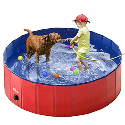 Fuloon PVC Pet Swimming Pool Portable Foldable...