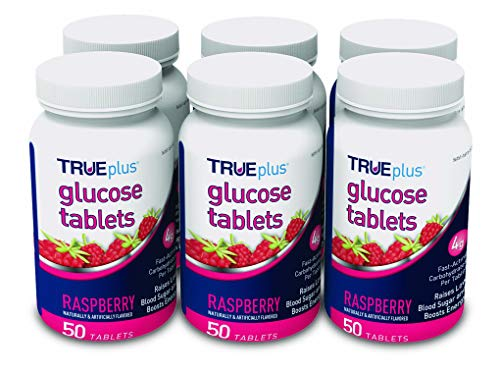 TRUEplus® Glucose Tablets, Raspberry Flavor - 50ct Bottle – 6 Pack