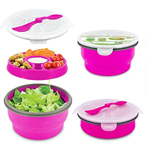 Smart Planet Eco Collapsible Picnic Salad Bowl