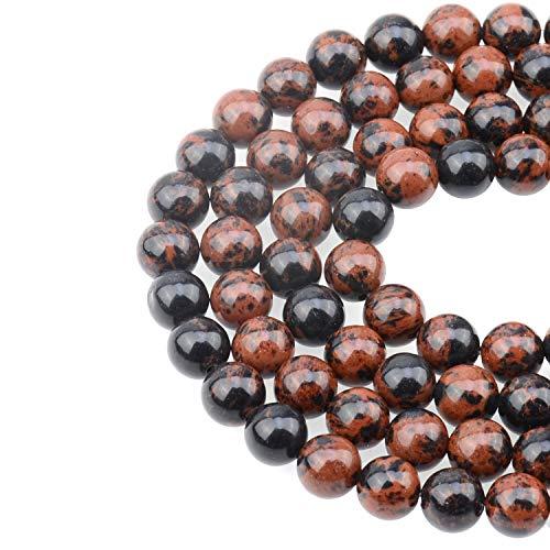 LPBeads 100PCS 8mm Natural Mahogany Obsidian Beads Gemstone...