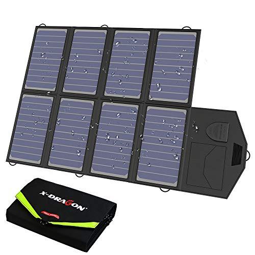 X-DRAGON Chargeur Solaire 40W (5V USB + 18V DC) Ordinateur Portable SunPower Chargeur pour...