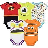 Disney Pixar Baby Boy Girl 5 Pack Bodysuits Nemo Buzz Incredibles Monsters Inc. 6-9 Months