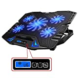 TopMate C5 12-15.6 inch Gaming Laptop Cooler Cooling Pad | 5 Quiet Fans and LCD...