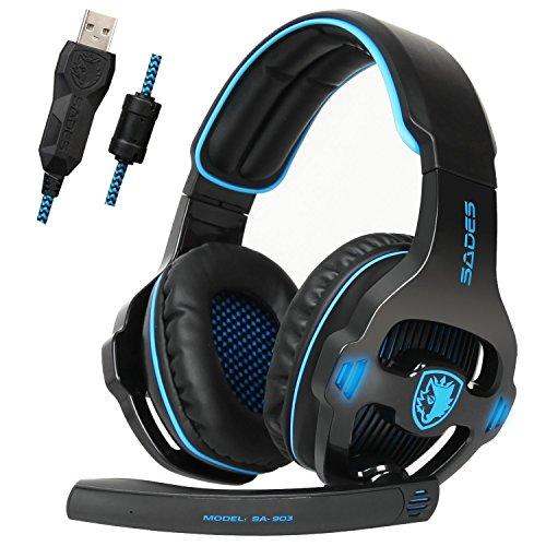 Sades SA903 USB 7.1 Surround Sound Stereo Gaming Headset with Mic