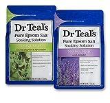 Dr Teal's Epsom Salt Bath Soaking Solution, Eucalyptus and Lavender, 2...