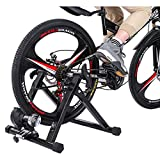 ZTTONE Bike Resistance Trainers Bike Trainer Stand Magnetic Bicycle Stationary Stand for Indoor Exercise Bike Trainer Stand Steel Bicycle Exercise Magnetic Stand with Front Wheel Riser Block (B)
