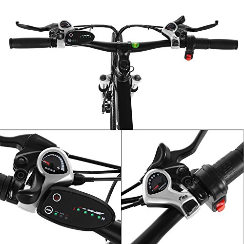 Product Image 5: Kemanner 26 inch Electric Mountain Bike 21 Speed 36V 8A Lithium Battery Electric Bicycle for Adult (Black) (Black)