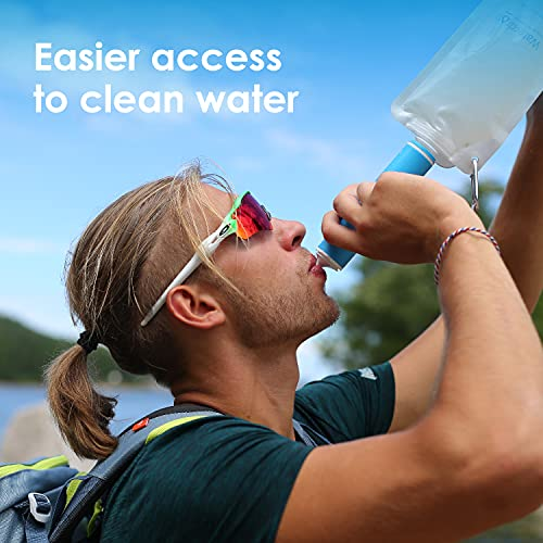 Product Image 7: Waterdrop Gravity Water Filter Straw, Portable Water Purifier Survival for Camping, Hiking, Backpacking and Emergency Preparedness, Green