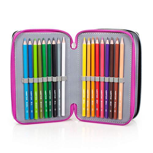 Image 3 - Lol Surprise 92424 Trousse triple rembourrée, 44 accessoires scolaires, 20 cm