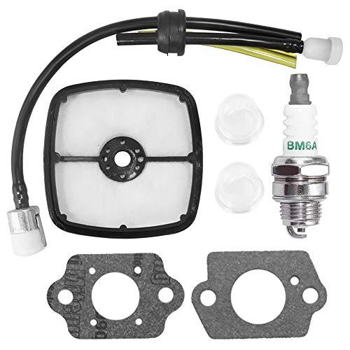 Air Filter RePower Kit with Spark Plug Primer Bulb Fuel Line Hose for Echo Shred N Vac ES2000 Echo HCR1500 PAS211 SRM2110 SRS2100 SRM2100 SRM2100SB