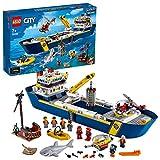 LEGO-Le Bateau d'exploration océanique City Jeux de Construction, 60266, Multicolore