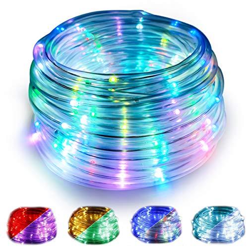 WOWDSGN Tubo LED RGB Multicolore Esterno da 10M, Tubo Luminoso USB con Telecomando a 100 LED, 16 Colori con 4 Modalit di Illuminazione, Impermeabile IP68 e 50pz Clip di Fissaggio