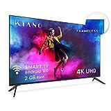 Kiano Elegance TV 50' Pouces Android TV 9.0 2GB RAM [127 cm Frameless TV]...
