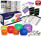 21 Day Portion Control Containers Kit - Nutrition Diet, Multi-Color Coded Weight Loss System. Complete Guide + PDF Planner + Recipe eBook and Tape Measure - BPA Free - 7 PC Labeled