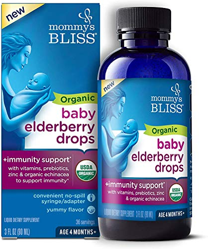 Mommy's Bliss Organic Baby Elderberry Drops, Immnity Support...