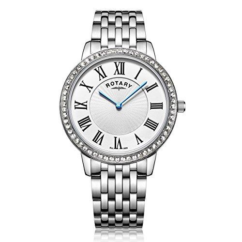 Rotary LB00358/21 Damen-Armbanduhr Analog Quarz Edelstahl