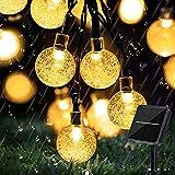Lezonic Guirlande lumineuse solaire pour extérieur, 50 LED, 8 modes,...