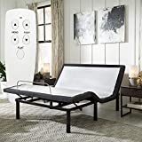 Blissful Nights Queen Adjustable Bed Base with Wireless Remote Head and Foot Incline and No Tools Required Assembly