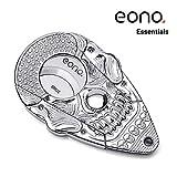 Eono Essentials Zigarrenschneider mit Verschlusssystem Silber Hochglanz 3D-Schädel Rostfreier Stahl, Selbstschärfende Guillotine, Doppelklinge