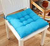Chair Pads Seat Cushion with Ties,Outdoor Indoor Soft Thicken Comfy Seat Pads Cushion Pillow,Dining Room Kitchen Chair Cushions for Home Office Car Patio Furniture Garden Decoration (A/Blue)