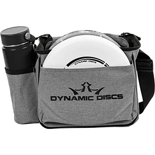 Dynamic Discs Cadet Disc Golf Bag | Introductory Disc Golf Bag | Great for Beginners and Casual Disc Golf Rounds | Lightweight and Durable Frisbee Golf Bag | 8-10 Disc Capacity (Heather Gray)