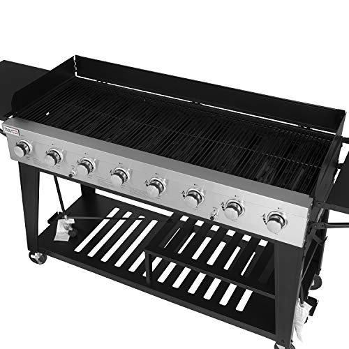 Product Image 5: Royal Gourmet GB8000 8-Burner Liquid Propane Event Gas Grill, BBQ, Picnic, or Camping Outdoor, Black