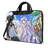 XCNGG Re Zero Anime Laptop Shoulder Messenger Bag Tablet Computadora Almacenamiento Mochila Bolso 14 Pulgadas