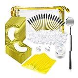 Eyelash Extension Kit Practice Eyelash Grafting Training Tool Kit For Makeup Beauty Tools Professional Lash Extensions Set(GOLD)