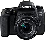 Canon SLR EOS 77D Fotocamera Digitale, Obiettivo EF-S 18-55 mm f/4-5.6 IS STM, Nero