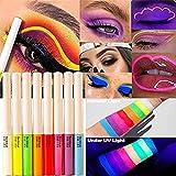 Neon Liquid Eyeliner High Pigmented UV Eyeliner Waterproof Smudgeproof Glow Body...
