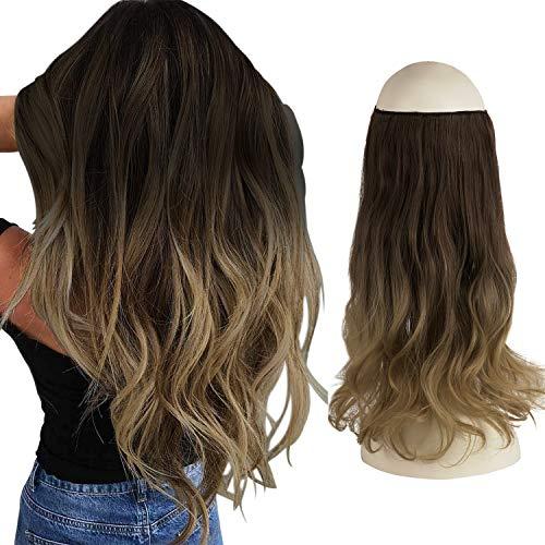 FESHFEN Extension Fil Invisible Cheveux,...
