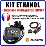 KIT Ethanol Flex Fuel - E85 - Bioethanol - 4 cylindres + Interface de...