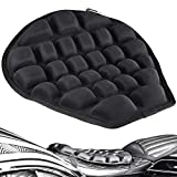 HOMMIESAFE Air Motorcycle Seat Cushion Water Fillable Cooling Down Seat Pad,Pressure Relief Ride Motorcycle Air Cushion Large for Cruiser Touring Saddles(Black)