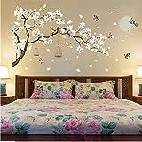 zzlfn3lv 187 * 128 cm Tamaño Grande Árbol Pegatinas de Pared Flor de Aves Decoración para el...