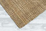 Iron Gate Handspun Jute Area Rug 4x6 Hand Woven by Skilled Artisans, 100% Natural Jute Yarns, Thick Ribbed Construction, Reversible for Double The wear, Rug pad Recommended