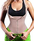 Eleady Women's Underbust Corset Waist Trainer Cincher Steel Boned Body Shaper Vest with Adjustable Straps (S, Apricot)