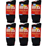 DEBRA WEITZNER Mens 6 Pairs Heavy Insulated Thermal Socks – 5X Warmer Thermal Boot Socks For Extreme Temperatures 4.7 Tog Rating
