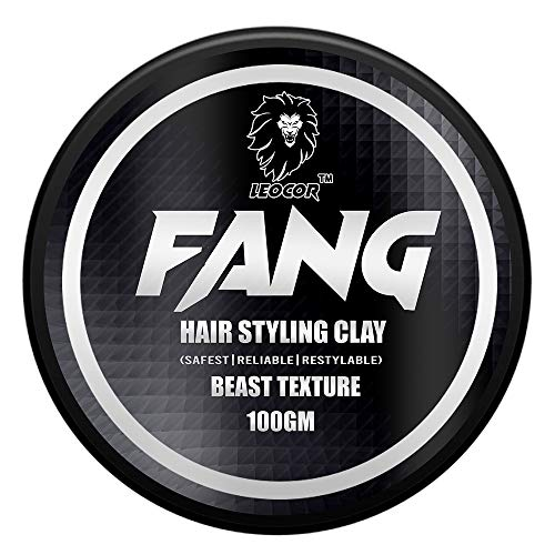 Leocor FANG Hair Styling Clay for extra hold & texture | Strong hold Natural finish | Safe for hair No harmful chemicals| 100gm