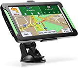 "GPS Navigation for Car, LTTRBX 7"" Touch Screen 8GB Real Voice Spoken Turn-by-Turn Direction Reminding Navigation System for Cars, Vehicle GPS Satellite Navigator with Free Lifetime Map Update (Black)"