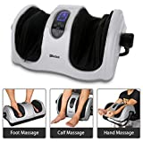 Foot Massager with Heat, Shiatsu Deep Kneading Massage Machine for Foot Calf Arm, Stimulate Blood Circulation Treatment for Plantar Fasciitis