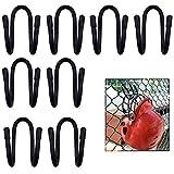 YYST Fence Helmet Gloves Hanger Holder Dugout Organizer - Organize Your Helmets and Gloves Off The Ground - Softball & Baseball Sports Equipment Caddy - No Helmet (8)
